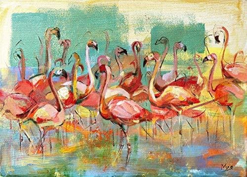 Flamingo Exotic Bird Fine art Print, Colorful artwork, Animal Wall Decor