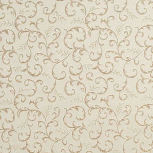 (E642 Abstract Floral Ivory And Silver Damask Upholstery And Window Treatment Fabric By The Yard)