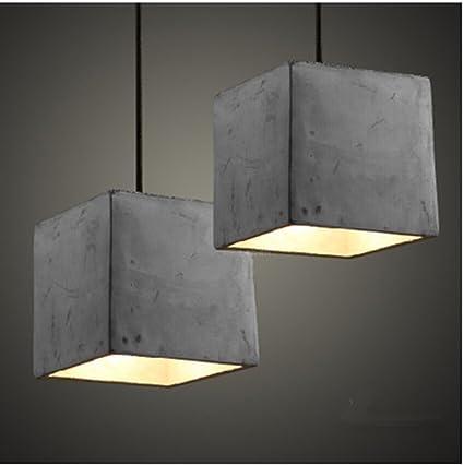 Hanamaki Techo Lámpara Colgante Cemento Lámpara Industrial ...