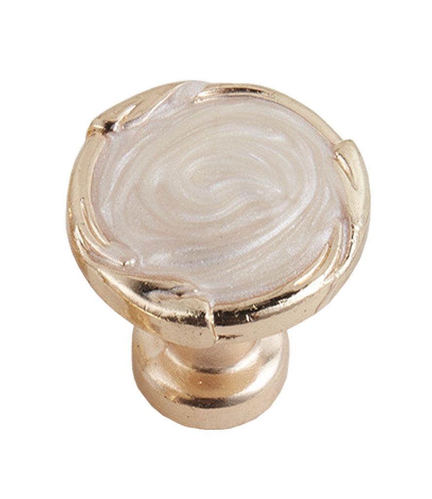 Globalwells Luxury Retro Cabinet Drawer Wardrobe Pull Handle Hardware White-10 Pack by G-Hardware (Image #1)