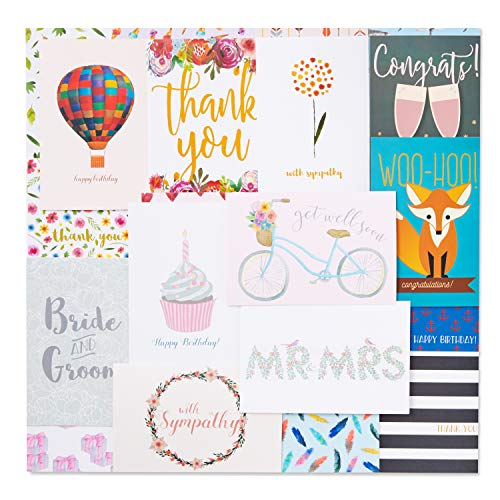 48 Pack Assorted All Occasion Greeting Cards  Includes Birthday Wedding Thank You Note Cards Assortment  Bulk Box Set Variety Pack with Envelopes Included  48 Designs  4 x 6 Inches