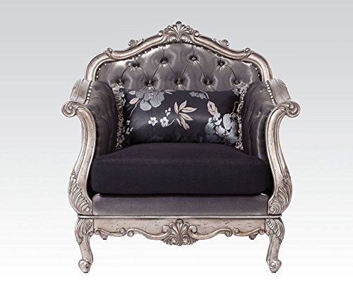 ACME Furniture 51542 Chantelle Chair with Pillow, Antique...