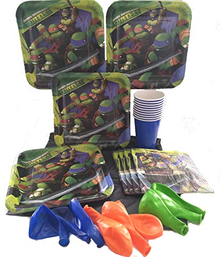 Teenage Mutant Ninja Turtles Birthday Party Plates Napkins Cups Decorations for -