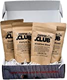 Coffee Club - Gourmet Coffee Bean Sampler Box - 4 Single Origin Specialty Coffees from Around the World - Premium Coffee Sampler Box for Coffee Lovers - 1/2 Pound of Whole Bean Coffee - Roasted in USA