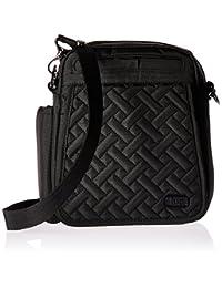 Lug Flapper Cross Body Messenger Bag, Brushed Black, One Size (Model: FLAPPER-BRUSHED BLACK)