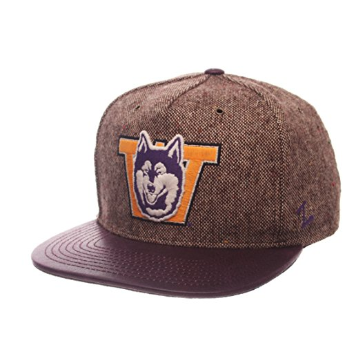 Zephyr NCAA Washington Huskies Adult Men Legend Heritage Collection Hat, Adjustable, Tweed