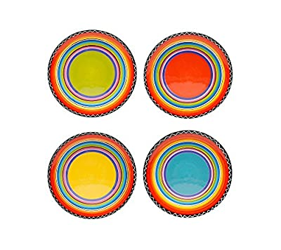 Certified International by Nancy Green Tequila Sunrise Set of 4 Salad Plates