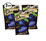 Pack of 3 - Dove Whole Dried Blueberries Dipped in Creamy Dove Dark Chocolate