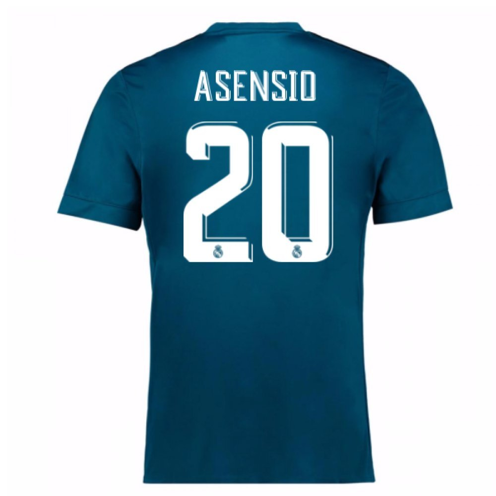 2017-18 Real Madrid Third Football Soccer T-Shirt Trikot (Marco Asensio 20) - Kids