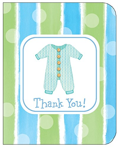 Thank You Cards Boy Baby Clothes 8ct great for baby shower