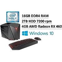 2017 Newest Flagship Lenovo Ideacentre Y710 Cube Desktop, Intel Quad-Core i7-6700 up to 4.0GHz, 16GB DDR4, 2TB HDD 7200rpm, AMD Radeon RX 460 4GB GDDR5, USB 3.0, Bluetooth, Keyboard & Mouse, Win 10