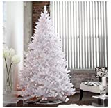 Artificial Christmas Tree. Fake Xmas Spruce With Densely, Lush Foliage. It's Classic Fir Shape, White Branches Looks Neat & Festively. Great For Indoor, Holiday Season Party Decor. (7.5 Foot, Multi)