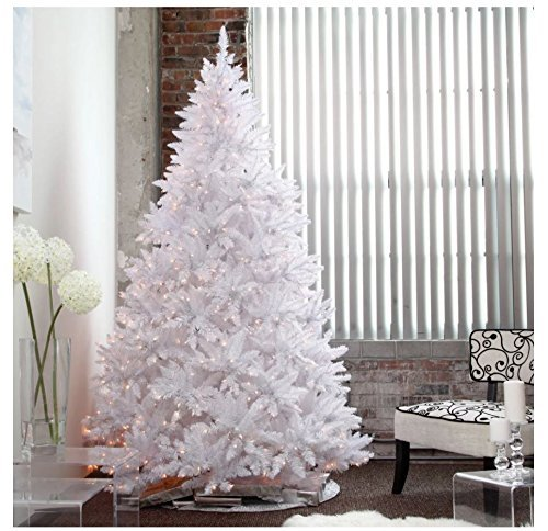 Artificial Christmas Tree. Fake Xmas Spruce With Densely, Lush Foliage. It's Classic Fir Shape, White Branches Looks Neat & Festively. Great For Indoor, Holiday Season Party Decor. (7.5 Foot, Multi) by Artificial-Christmas-Tree