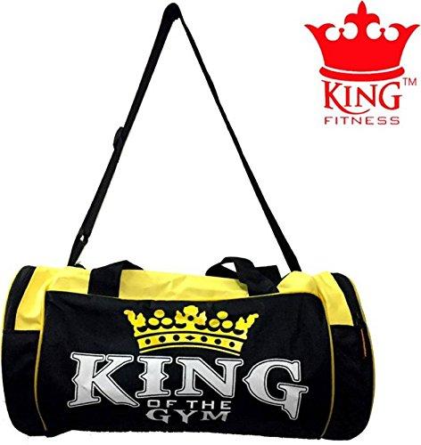 Vinto King Fitness Exclusive Gym Bag Black Yellow Duffel Black kit Bag