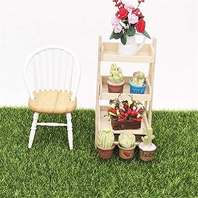 Lumumi Dollhouse Accessories, Artificial Faux Garden Grass Lawn Moss Miniature Craft Dollhouse Decor 15x15cm: Toys & Games