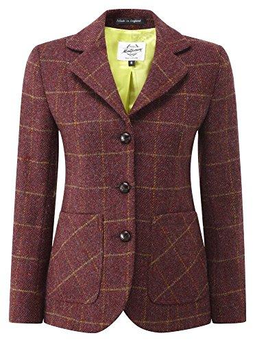 Womens Harris Tweed Jacket Burgundy 16