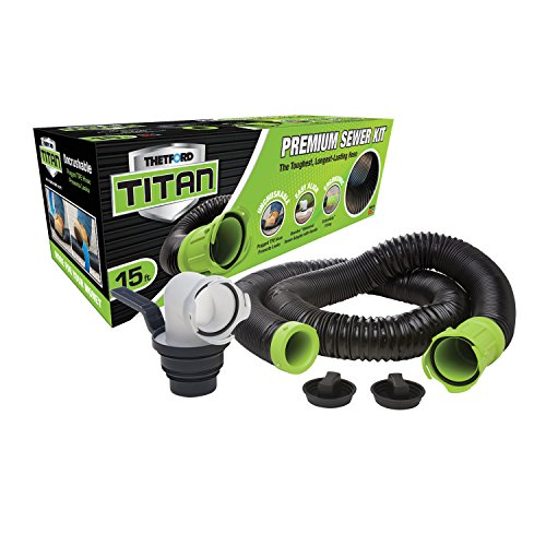 TITAN 17853 15ft 15-Foot Premium RV Sewer Hose Kit-Thetford-17853