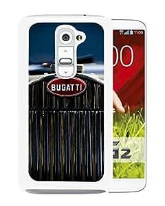 Unique Designed Skin Case For LG G2 With bugatti 2 White Phone Case