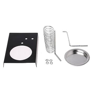exing Soldador Soporte Soporte Base rectángulo metal protección de seguridad Base: Amazon.es: Bricolaje y herramientas
