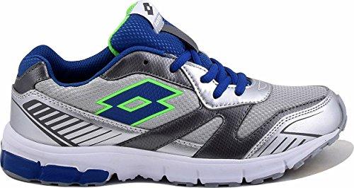 Lotto Zenith Vi Jr L, Zapatillas de Running Unisex Bebé Plateado / Azul (Slv Mt / Blu Chi)