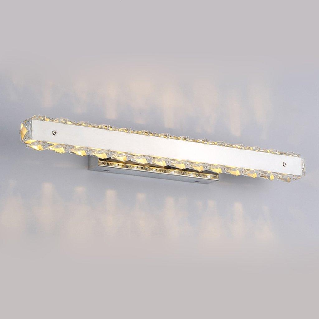 badezimmerlampe Led Crystal Mirror Front Light Edelstahl wasserdicht Anti-Fog Badezimmer Badezimmer Spiegel Front Light Schminklicht (Farbe   weißes Licht-50cm)