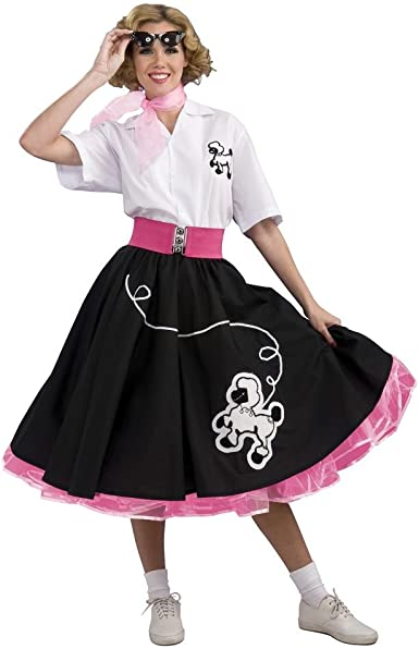 50/'s Deluxe Poodle Set Adult Costume