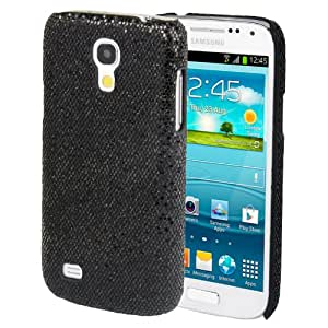 Glitter Powder Skinning Plastic Case for Samsung Galaxy S IV mini / i9190 (Black)