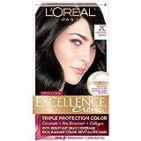 L'Oreal Paris Excellence Crème Permanent Hair Colour I10 Luscious Black, 1 EA