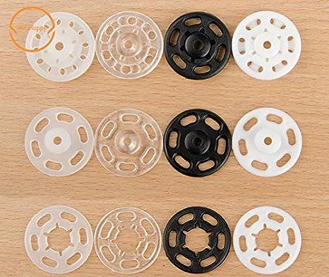 10mm 21mm Piccoli Bottoni Automatici in plastica ABS Bottone Automatico Accessorio per Cucire RMEX 100 pz 7mm Traslucido 18mm 7mm 100 Pezzi 13mm 15mm