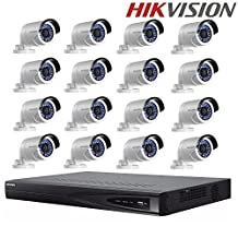 Hikvision DS-7616NI-E2/16P Embedded Plug & Play NVR 16 POE+ Hikvision DS-2CD2042WD-I 4MP IP Camera Surveillance Camera Security Camera + Seagate 4TB HDD (16 Channel + 16 Camera)