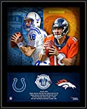 "Peyton Manning Denver Broncos/Indianapolis Colts 12"" x 15"" Sublimated Retirement Collage Plaque - Fanatics Authentic Certified"