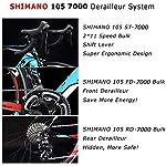 SAVADECK-Warwind50-700C-Bici-da-Strada-in-Carbonio-Bici-da-Corsa-su-Strada-con-Cambio-Shimano-105-R7000-22-velocita-Bicicletta-Ultralight