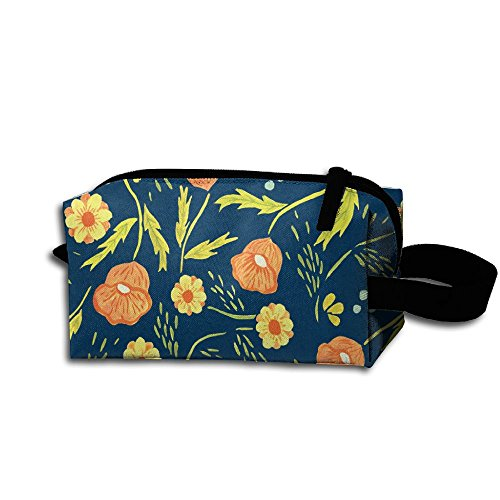 Storage Bag Travel Bag Vintage Daisy Print Cosmetic Bag Portable Travel Makeup Bag