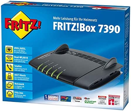 Avm Fritz Box 7390 Wlan Router Black Elektronik