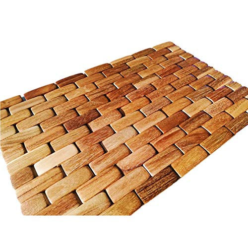 Costa Rican Handmade Foldable Wood Kitchen Placemat 16.5x10.5in