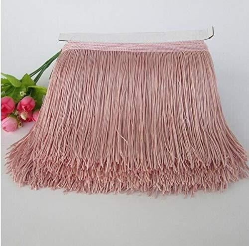 1M 15cm Long Tassel lace Trim Sewing Latin Dress Garment Curtain DIY Accessories (Color - Bean -