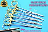 HEMOSTAT Needle Holder Olsen HEGAR 7'' with T/C Inserts Gold Rings German Grade (CYNAMED)