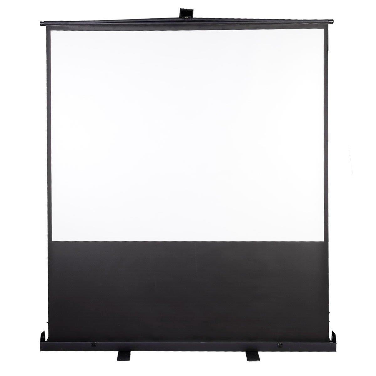 Safeplusポータブル手動Pull Up床スタンドプロジェクター投影画面 100-inch Diagonal / 4:3 100-inch Diagonal / 4:3  B01AKXRM7A