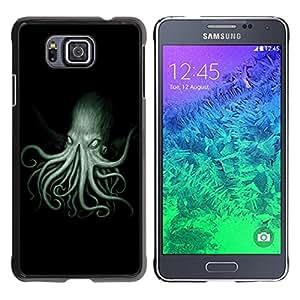 Qstar Arte & diseño plástico duro Fundas Cover Cubre Hard Case Cover para Samsung GALAXY ALPHA G850 ( Octopus Kraken Sea Ocean Creature Legs Art)