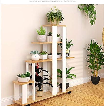 YUNMO Balcón móvil poleas Flor estantes IKEA hogar Maceta ...