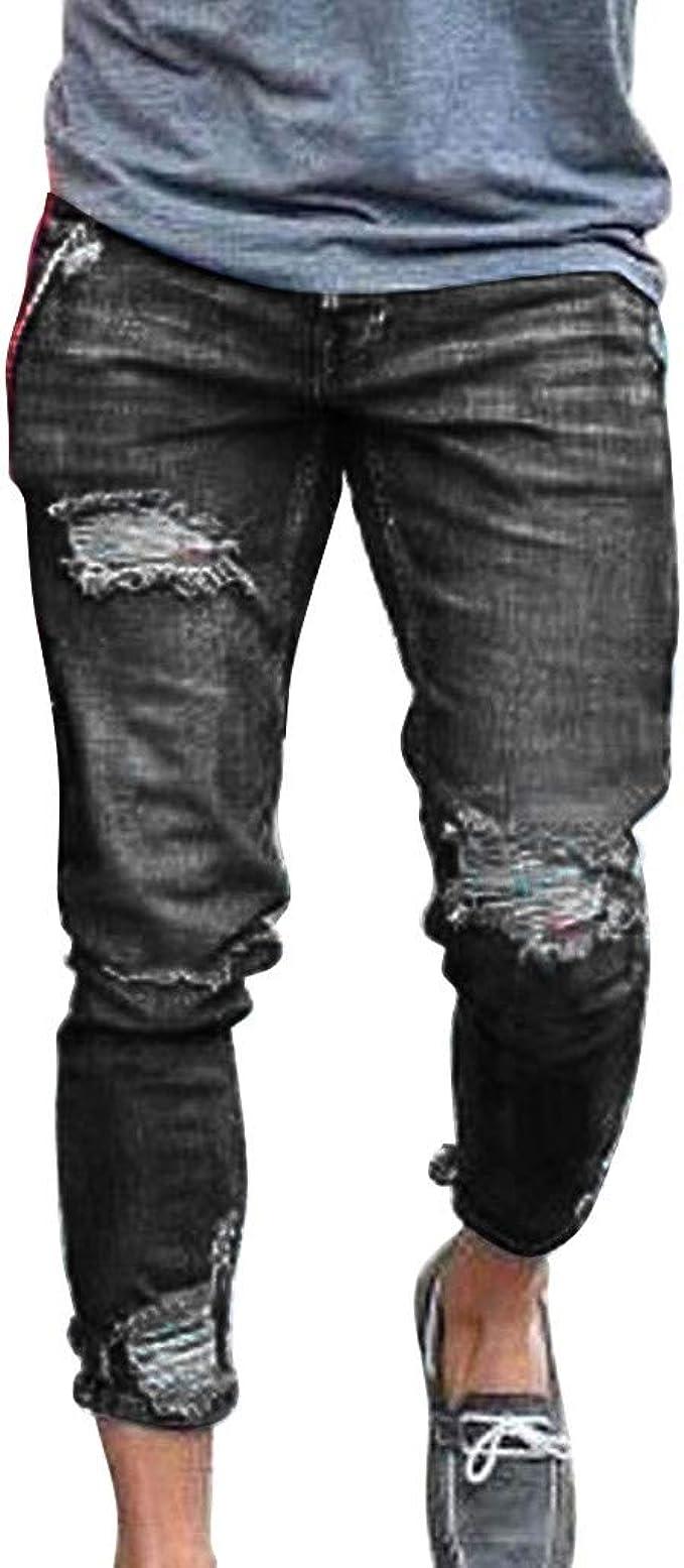 BYSTE Moda Uomo Sport Pantaloni da Jogging Casuale Elasticizzati Sciolto Jeans Pantaloni della Tuta Pantalone con Coulisse