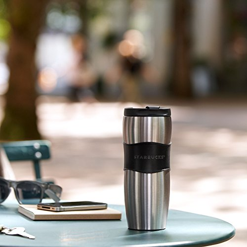 Starbucks Stainless Steel Lucy Classic Rubber Grip Travel Tumbler Thermos Mug - 12 fl oz