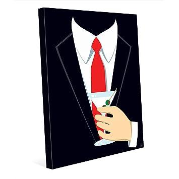 Agent Red Tie and Martini Retro Vintage Mad Men Black Suit Art for Man Cave  sc 1 st  Amazon.com & Amazon.com: Agent Red Tie and Martini: Retro Vintage Mad Men Black ...
