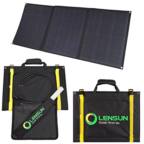 Lensun 100W 12V Ultralight Folding Solar Panel with MC4 Solar Cables, Ideal for Camping van, RVS, Motorhomes, Caravans, Boat and Yachts by Lensun