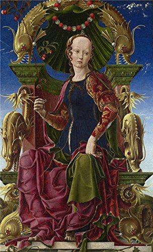 Oil Painting 'Cosimo Tura A Muse (Calliope) ' Printing On High Quality Polyster Canvas , 18 X 30 Inch / 46 X 75 Cm ,the Best Powder Room Decoration And Home Decoration And Gifts Is This Cheap But High Quality Art Decorative Art Decorative Canvas Prints