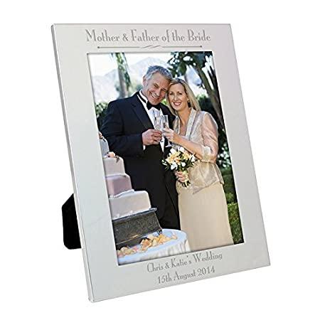 Silver 5x7 Decorative Mother Father Of The Bride Frame Gifts And