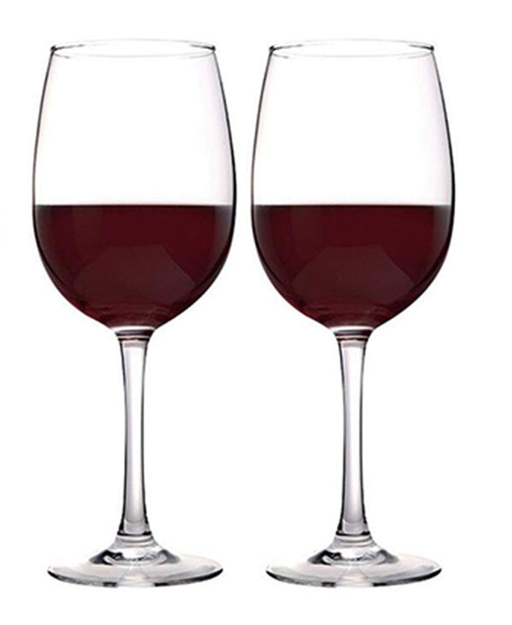 Kefbhefe Glass Red Wine Goblet, 100% Hand-Blown Lead-Free Crystal Glass, Wine Glass, 470ML, 2, 4, 6,Package1:2Cups