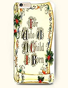 Authentic Case Cover For Apple Iphone 4/4S Hard Back Plastic Case /Merry Christmas Xmas/ For Unto Us Child is Born