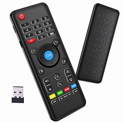 Air Remote Mouse, 7Lucky 2.4GHz Mini Wireless Keyboard Mouse with Touchpad Android TV Remote Control Infrared Leaning for Android TV Box ,Smart TV, HTPC, Mini PC,Mac OS, etc