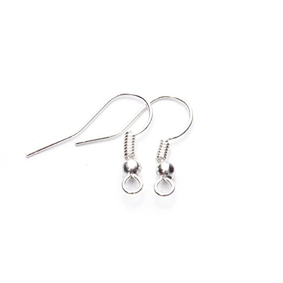 Amazon Com Linsoir Beads Iron Wire Earring Hooks With Large Loop